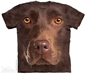 Chocolate Lab Portrait - 10-3550 - Adult Tshirt