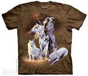 Companions of the Hunt - Adult Tshirt - Native American