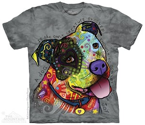A Dog Is The Only Creature Evolved Enough To Convey Pure Joy - 10-3916 - Adult Tshirt