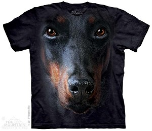 Doberman Portrait - Adult Tshirt