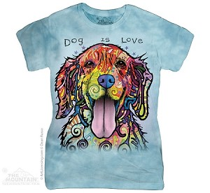Dog Is Love - Ladies Fitted Tee