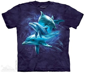 Dolphin Collage - Adult Tshirt
