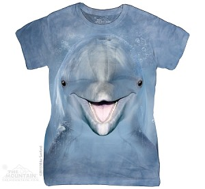 Dolphin Face - Ladies Fitted Tee