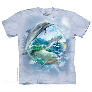 Dolphin Bubble - 10-5896 - Adult Tshirt