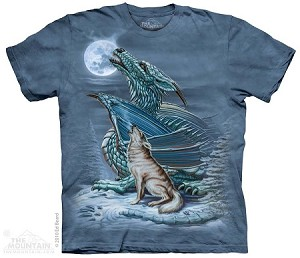 Dragon Wolf Moon - Adult Tshirt