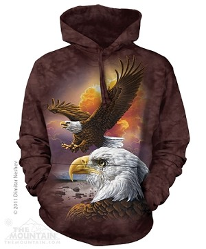 Eagle And Clouds - 72-3370 - Adult Hoodie