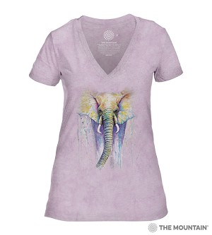 Elephant Colors - 41-6495-0002 - Women's Triblend V-Neck Tee
