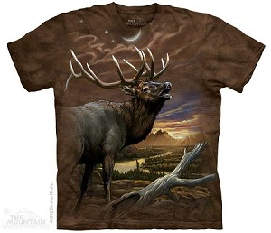 Elk At Dusk - Adult Tshirt