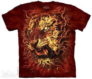 Fire Tiger - 10-4114 - Adult Tshirt
