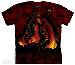 Fireball Dragon - 10-3127 - Adult Tshirt
