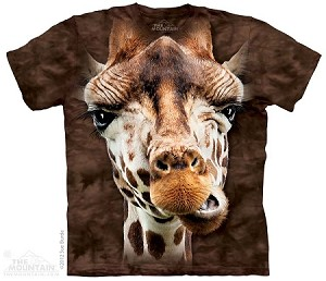 Giraffe Face - Adult Tshirt