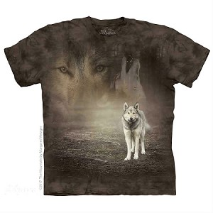 Grey Wolf Portrait - 10-5892 - Adult Tshirt