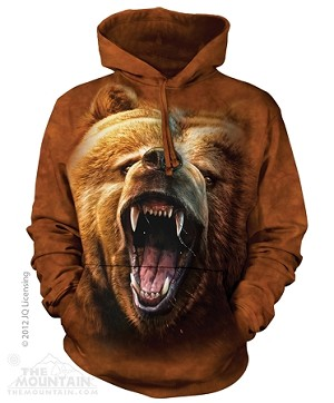 Grizzly Growl - Adult Hoodie
