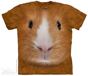 Guinea Pig Face - 10-3444 - Adult Tshirt