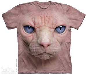 Hairless Pussycat Face - Adult Tshirt