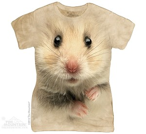 Hamster Face - Ladies Fitted Tee