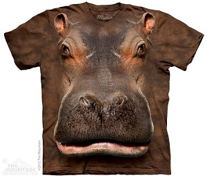 Hippo Head - 10-3384 - Adult Tshirt
