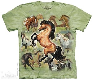 Horse Collage - Adult Tshirt