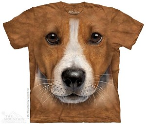 Jack Russell Terrier Face - Adult Tshirt