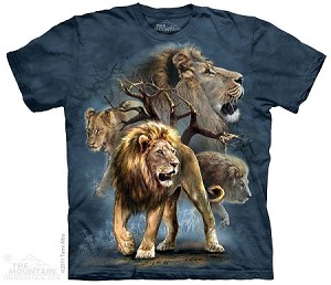 Lion Collage - Adult Tshirt
