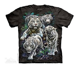 Majestic White Tigers - Youth Tshirt