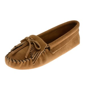 Minnetonka Moccasins 107T - Women's Kilty Softsole Moccasin - Taupe Suede