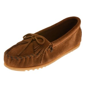 Minnetonka Moccasins 2402 - Childrens Kilty Moccasin - Brown Suede
