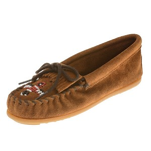 Minnetonka Moccasins 2602 - Childrens Thunderbird Moccasin - Brown Suede