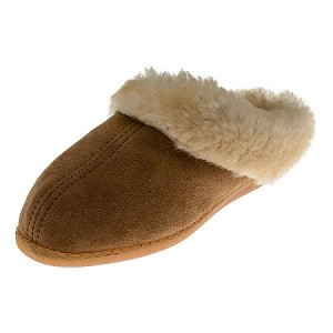 Minnetonka Moccasins 3361 - Women's Sheepskin Mule - Golden Tan