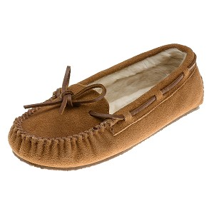 Minnetonka Moccasins 4011 - Women's Cally Slipper - Pile Lined - Cinnamon Suede