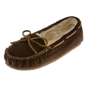 Minnetonka Moccasins 4012 - Women's Cally Slipper - Pile Lined - Chocolate Suede