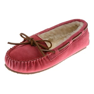 Minnetonka Moccasins 4017 - Women's Cally Slipper - Pile Lined - Hot Pink Suede