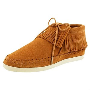 Minnetonka Moccasins 452T - Women's Venice Ankle Boot - Brown Suede