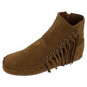 Minnetonka Moccasins 663 - Women's Willow Boot - Dusty Brown Suede