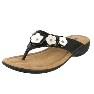 minnetonka moccasins 70032 solana sandal in black color leather