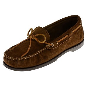 Minnetonka Moccasins 747 - Men's Suede Camp Moccasin - Dusty Brown