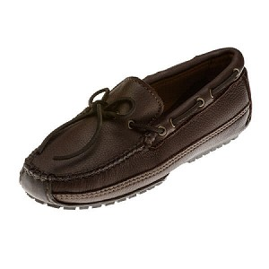 Minnetonka Moccasins 752 - Men's Moosehide Weekend Moccasin - Chocolate