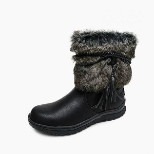 Minnetonka Moccasins 87410 - Women's Faux Fur/Pile Lined Everett Boot - Black