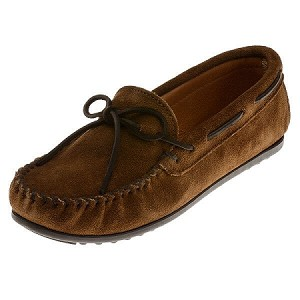 Minnetonka Moccasins 913 - Men's Classic Suede Moccasin - Dusty Brown