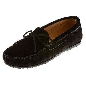 Minnetonka Moccasins 919 - Men's Classic Suede Moccasin - Black