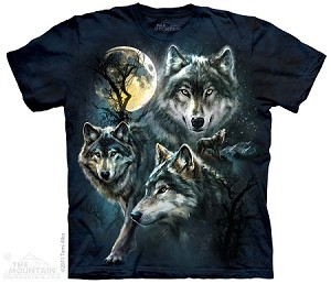 Moon Wolves Collage - Adult Tshirt