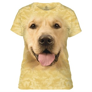 Golden Retriever - 28-4023 - Ladies Fitted Tee