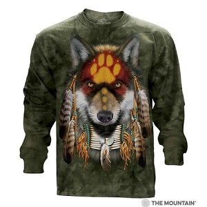 Native Wolf Spirit - 45-4022 - Adult Long Sleeve T-shirt