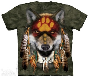 Native Wolf Spirit - Adult Tshirt - Native American