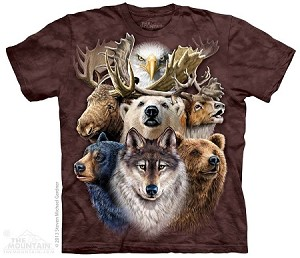 Northern Wildlife Collage - Adult Tshirt