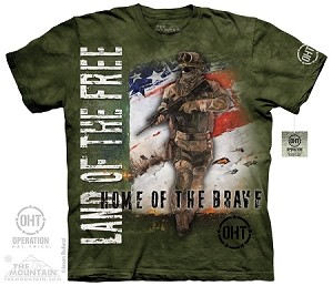 Operation Hat Trick - Home Of The Brave - Adult Tshirt