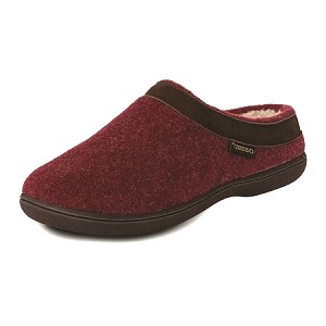 Old Friend Footwear - 340154 - Women's Sheepskin Curly Slipper - Burgundy