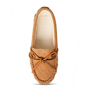 Old Friend Footwear - 340155 - Women's Molly Moccasin Slipper - Tan