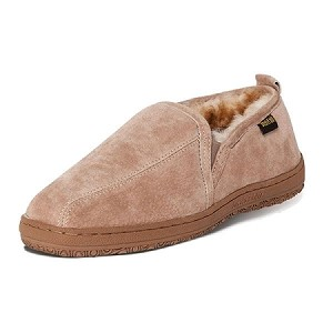 Old Friend - 421205 - Men's Romeo Moccasin - Wide Width  - 100% Sheepskin Lining - Chestnut - 8W thru 16W