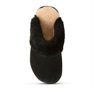 Old Friend Footwear - 441169 - Women's Sheepskin Scuff Slipper - Black